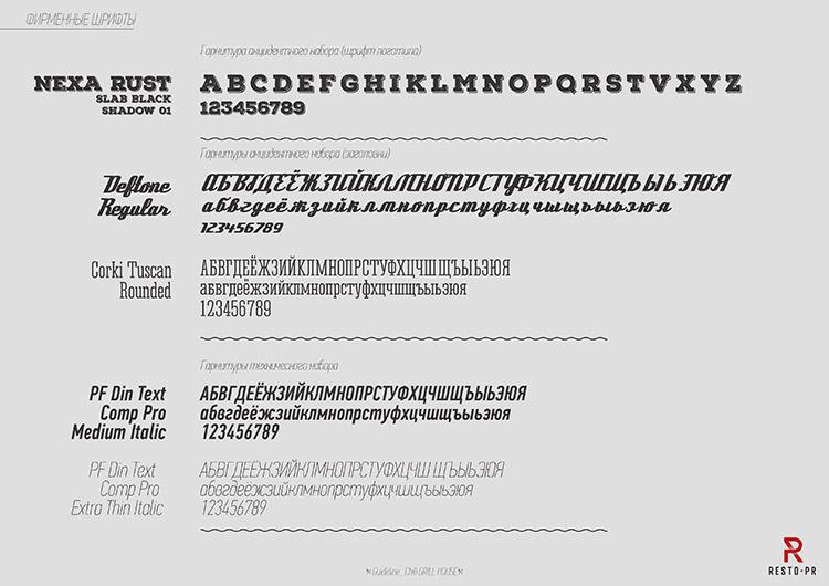 Фирменные шрифты