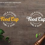 Инверсия логотипа Food Cup